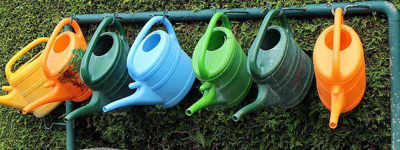 hanging watering cans
